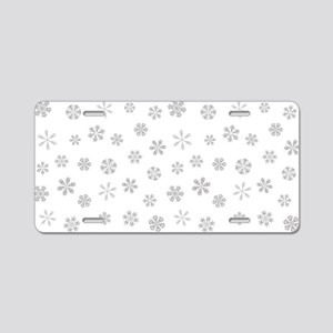 Silver White Holiday Snowflakes Aluminum License P