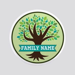 Genealogy Family Tree Personalized Button