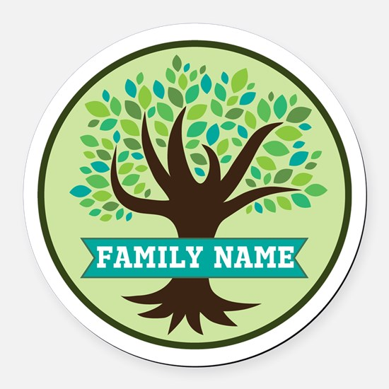 Genealogy Family Tree Personalized Round Car Magne