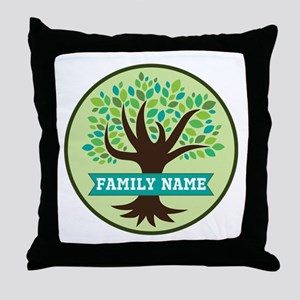 Genealogy Family Tree Personalized Throw Pillow
