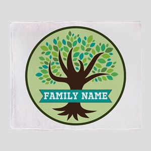 Genealogy Family Tree Personalized Throw Blanket