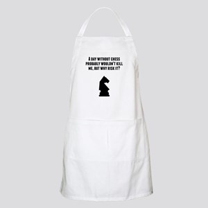 A Day Without Chess Apron