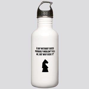 A Day Without Chess Water Bottle
