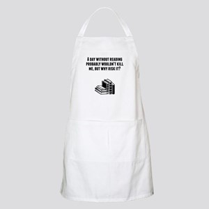 A Day Without Reading Apron