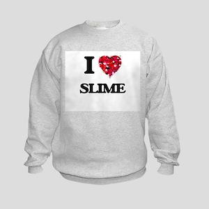 I love Slime Kids Sweatshirt