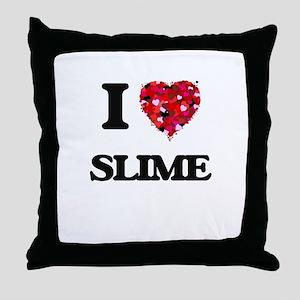 I love Slime Throw Pillow