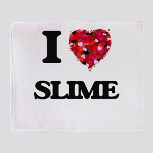 I love Slime Throw Blanket