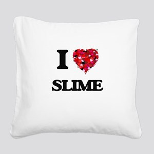 I love Slime Square Canvas Pillow