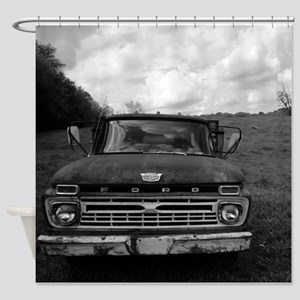 Ford V8 Truck Shower Curtain