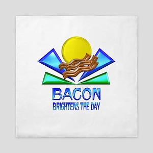 Bacon Brightens the Day Queen Duvet