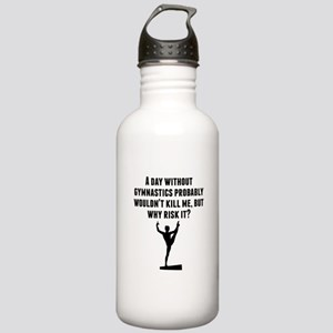 A Day Without Gymnastics Water Bottle
