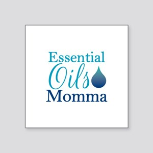 "Essential Oils Momma Square Sticker 3"" x 3"""