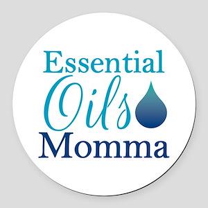 Essential Oils Momma Round Car Magnet