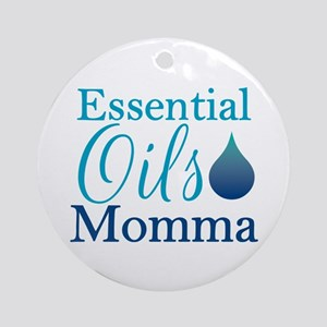 Essential Oils Momma Round Ornament