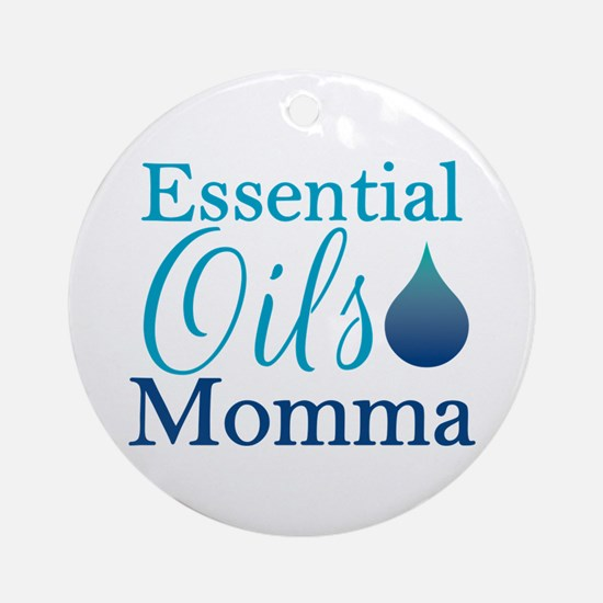 Essential Oils Momma Ornament (round)