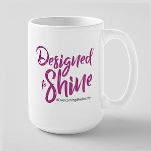 Pink On White Designed To Shine Mugs