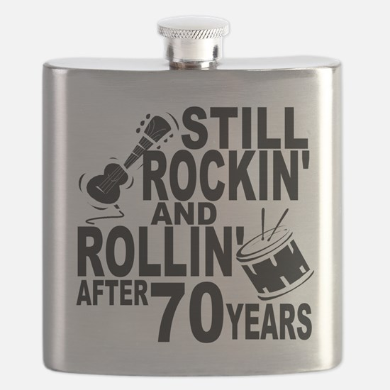 Rockin And Rollin After 70 Years Flask