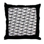 Cobia fish Pattern Throw Pillow