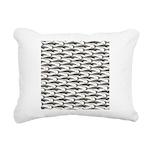 Cobia fish Pattern Rectangular Canvas Pillow