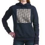 Cobia fish Pattern Women's Hooded Sweatshirt