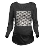 Cobia fish Pattern Long Sleeve Maternity T-Shirt