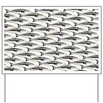 Cobia fish Pattern Yard Sign
