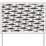 Cobia fish Pattern Yard Sign