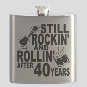 Rockin And Rollin After 40 Years Flask