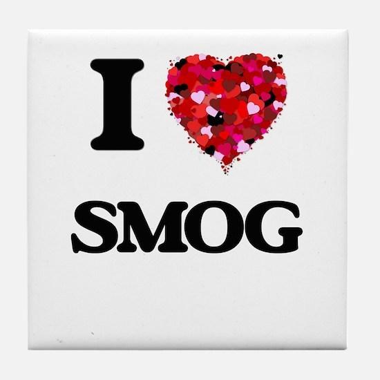I love Smog Tile Coaster