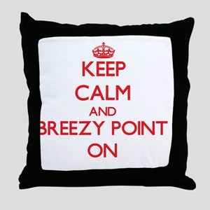 Keep calm and Breezy Point Maryland O Throw Pillow