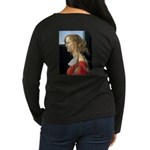 Simonetta Vespucc Women's Long Sleeve Dark T-Shirt