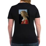 Simonetta Vespucci by Women's V-Neck Dark T-Shirt