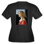 Simonetta Ve Women's Plus Size V-Neck Dark T-Shirt