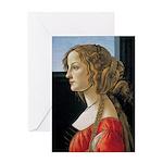 Simonetta Vespucci by Sandro Bottice Greeting Card