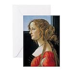 Simonetta Vespucci by Sa Greeting Cards (Pk of 20)