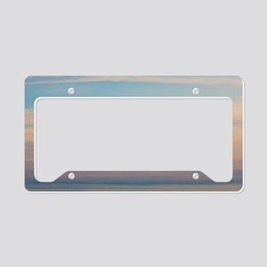 Serene sunset License Plate Holder