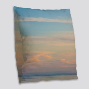 Serene sunset Burlap Throw Pillow