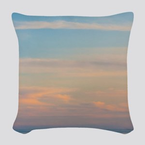 Serene sunset Woven Throw Pillow
