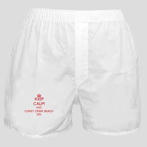 Keep calm and Corey Creek Beach New Y Boxer Shorts