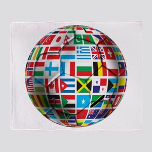 World Soccer Ball Throw Blanket