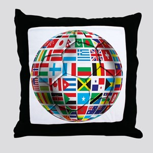World Soccer Ball Throw Pillow