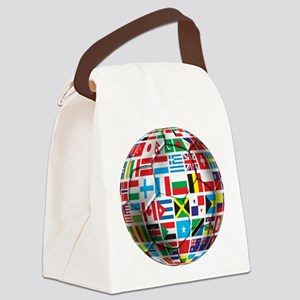 World Soccer Ball Canvas Lunch Bag