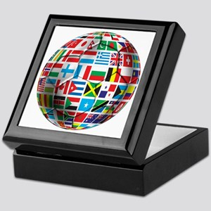 World Soccer Ball Keepsake Box