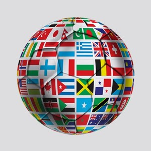 World Soccer Ball Ornament (Round)