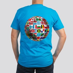 World Soccer Ball Men's Fitted T-Shirt (dark)