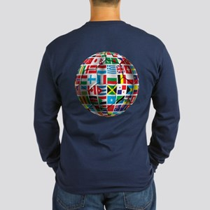 World Soccer Ball Long Sleeve Dark T-Shirt