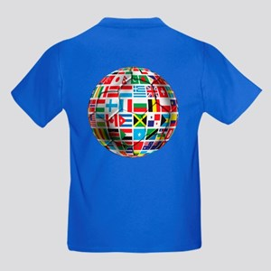 World Soccer Ball Kids Dark T-Shirt