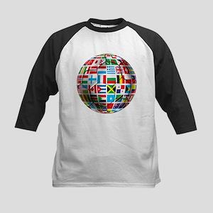 World Soccer Ball Kids Baseball Jersey