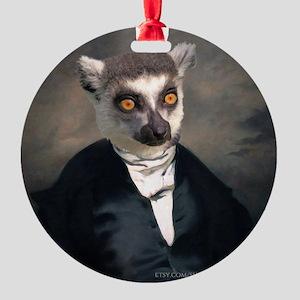 Lemur Round Ornament