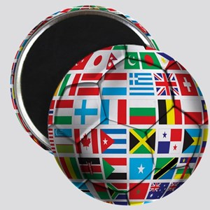 World Soccer Ball Magnets